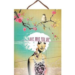 NEW Love Who You Are Panel Print Wall Art